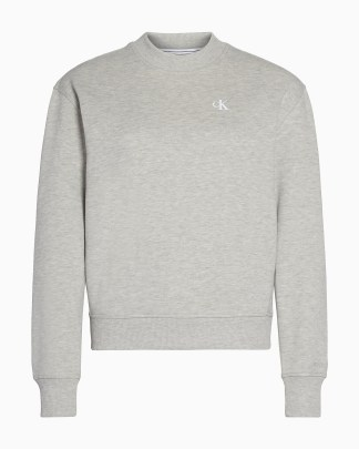 Calvin Klein Logo Embroidery Crew Neck Grey