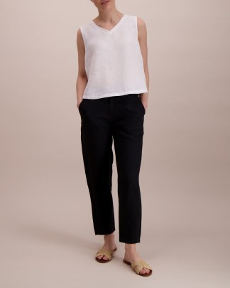 Balmuir Louise Linen Trousers Black