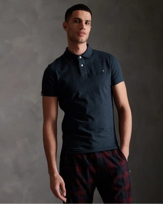 Superdry Jersey Polo Blue
