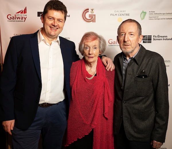 A special industry event in Galway celebrated 2 key anniversaries in film in the city, the fifth year of UNESCO City of Film and the 30th anniversary of Galway Film Centre. Alan Duggan Galway Film Centre Lelia Doolan and Film Director Joe Comerford. Photo:Andrew Downes, xposure