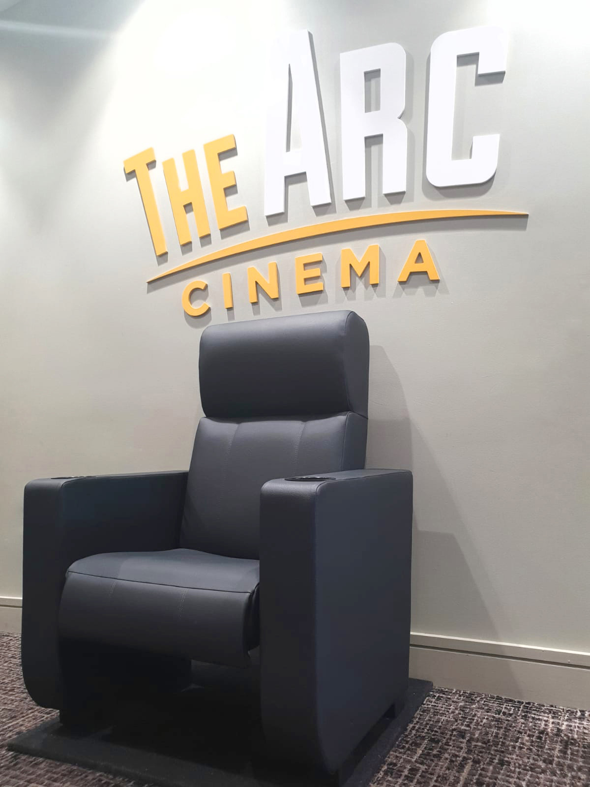 One of the luxury leather armchair seats that will feature in the new €7m Arc Cinema in Navan, which will open in December.