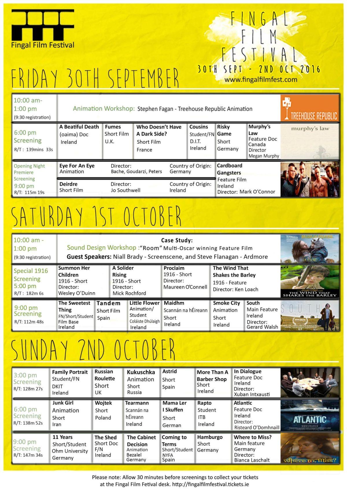 Fingal Film Festival 2016 Line-Up