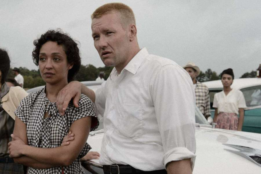 Ruth Negga and Joel Edgerton as Mildred and Richard Loving,