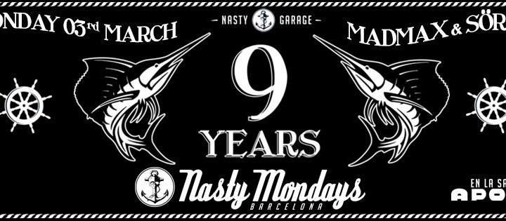 Nasty Mondays celebra 9 años sin dormir los lunes