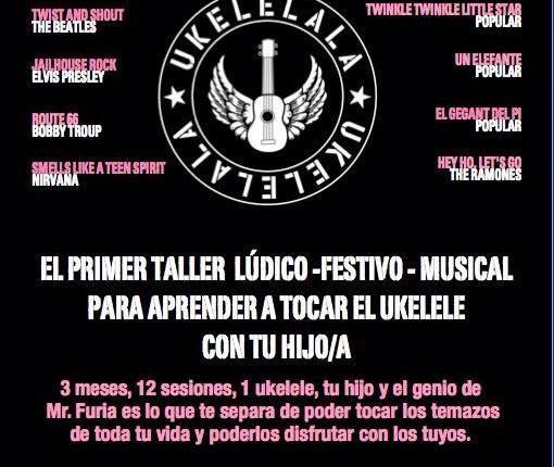 Taller de ukelele para padres y niños con Mr. Furia (The Pinker Tones)