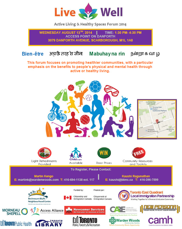 Live Well - Active Living Healthy Spaces 2014