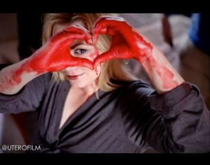 Jessica Cameron On Set Of Utero