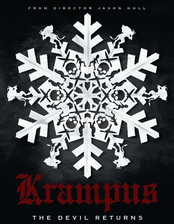 Krampus Snowflake Poster