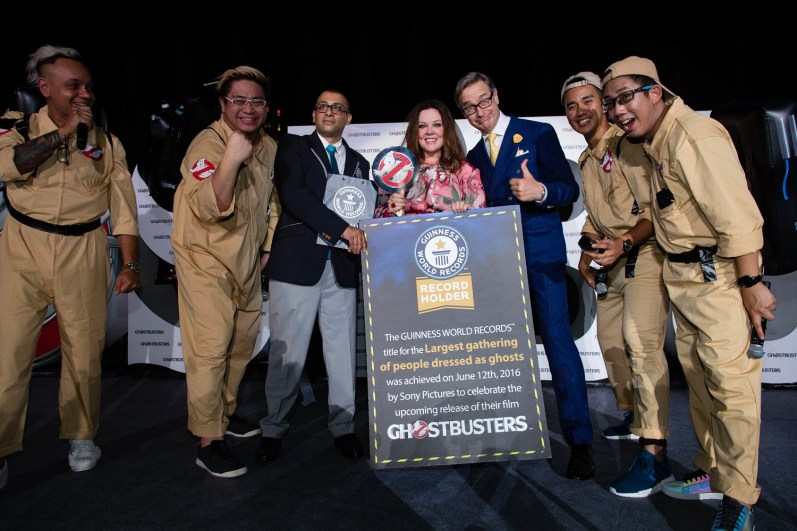 """Ghostbusters"" Red Carpet And Guinness World Record event, Marina Bay Sands, Singapore"