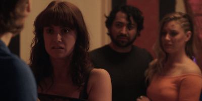 Still of Madeleine Heil, Armand Petri and Hailey Chown in Reel Nightmare