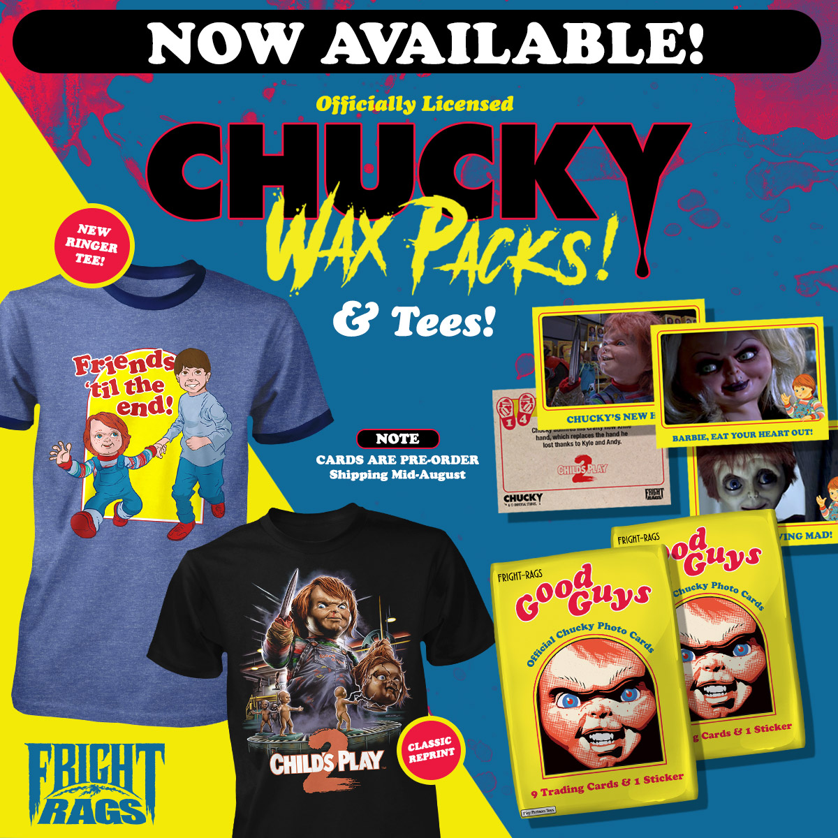 Chucky & Jaws Merchandise on Sale Now From Fright-Rags