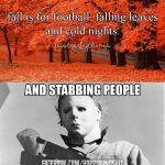 Fall Is Here Horror Fans!