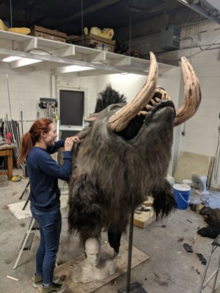 MFX Toronto crew member and special effects makeup artist Audrey Barrett showcases her monster making skills on the Warthog for Killer High 2018