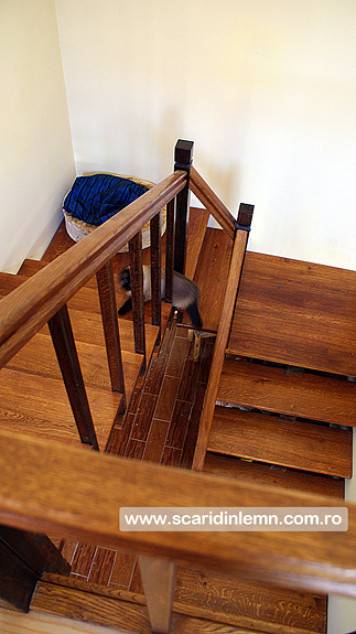 scari interioare de lemn masiv vang modular mana curenta balustrii pret calitate