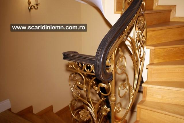 proiect scara interioara de lemn -  mana curenta lemn curbat