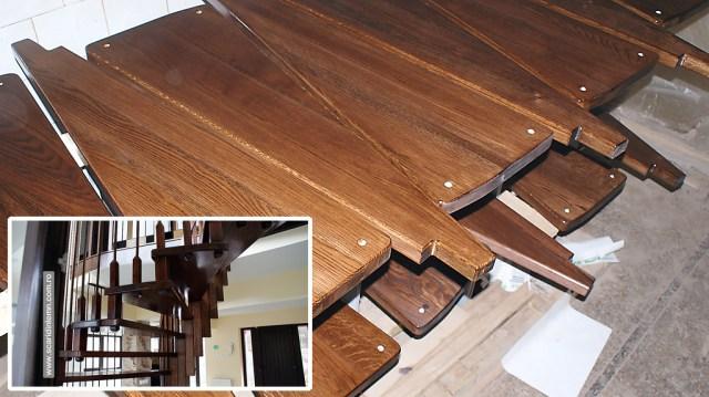 atelier tamplarie scara interioara din lemn cu trepte de lemn suspendate pe corzi pret oferta