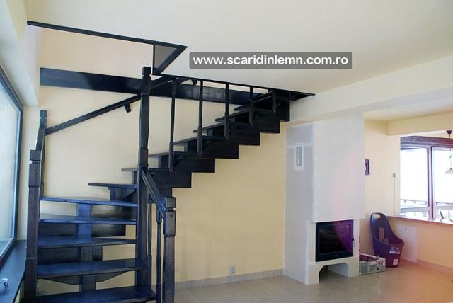 amenajari scara interioara de lemn masiv modulara mana curenta balustrii din lemn preturi calitate design proiectare
