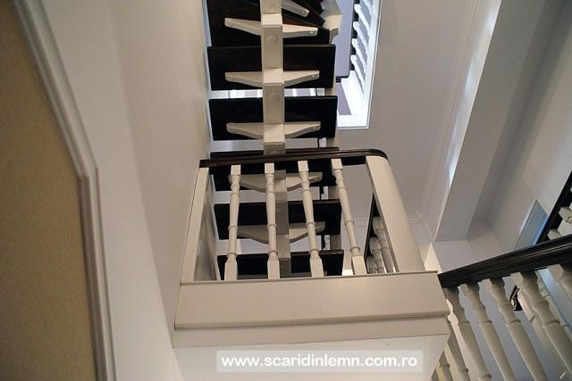 ferta pret scari interioare din lemn masiv vang modular placare trepte de lemn cu mana curenta curbare lemn