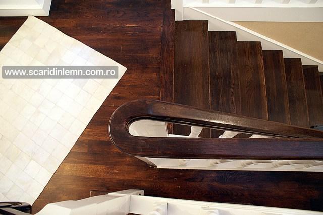 proiectare scari interioare din lemn masiv vang modular placare trepte de lemn cu mana curenta lemn curbat