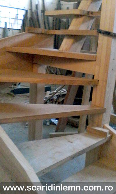 Atelier Scara interioara combinata, economica-atelier montaj