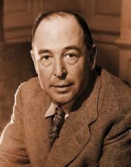 C.S. Lewis em 1948, aos 50 anos de idade.