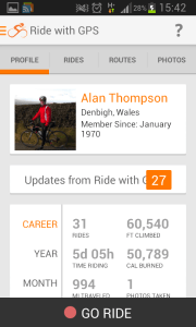 RidewithGPS release cycling android app
