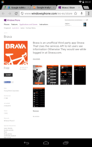 Brava – Strava data for Windows Phones