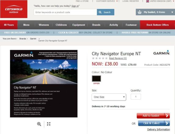 Garmin City Navigator best price