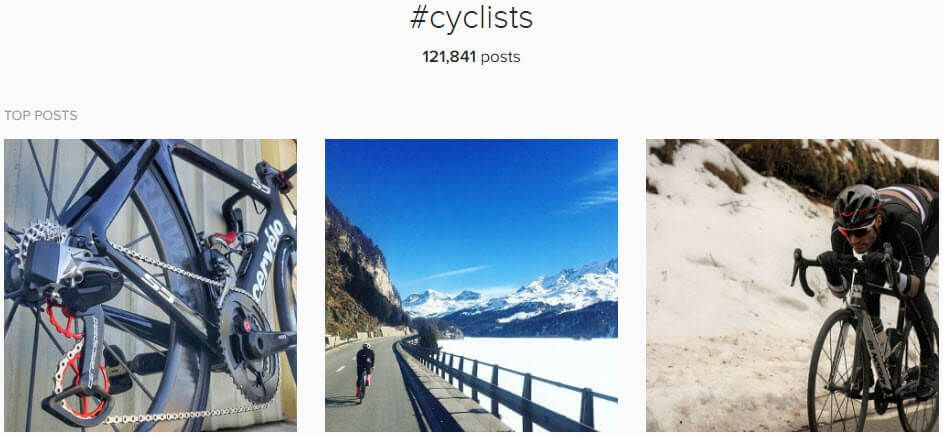 Instagram cycling hashtags