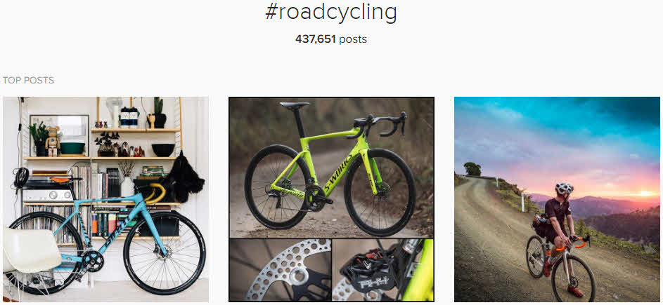 instagram cycling hashtags - #roadcycling