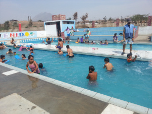 Swimming with the primary age kids