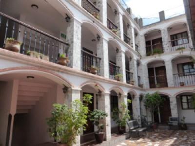 Latacunga, Ecuador Hotel courtyard