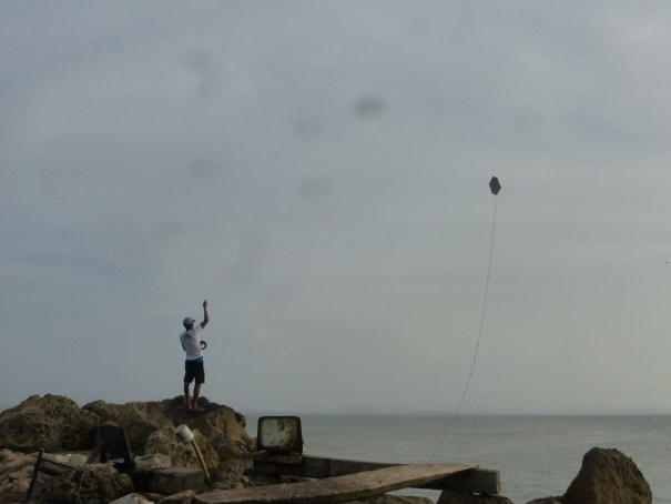 Kite fishing in Colombia