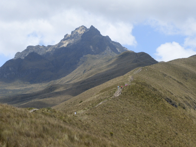 the summit of the Pichincha volcano is the furthest peak