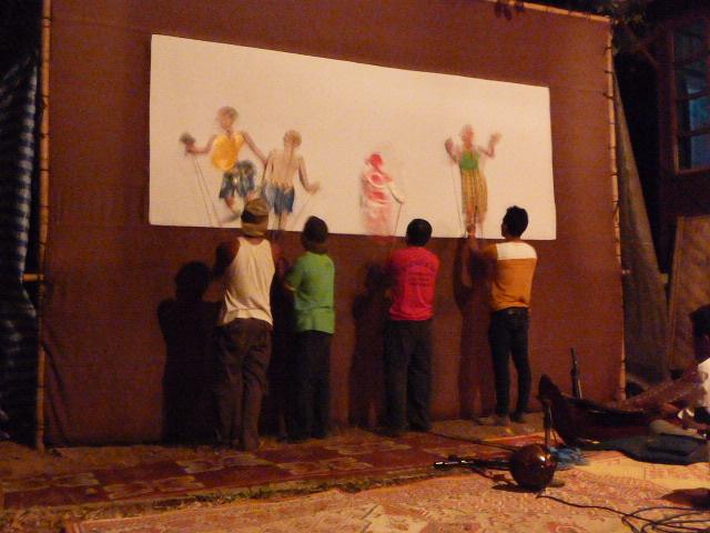 Champasak: shadow puppets