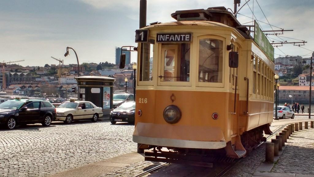 tram - highlight of Porto