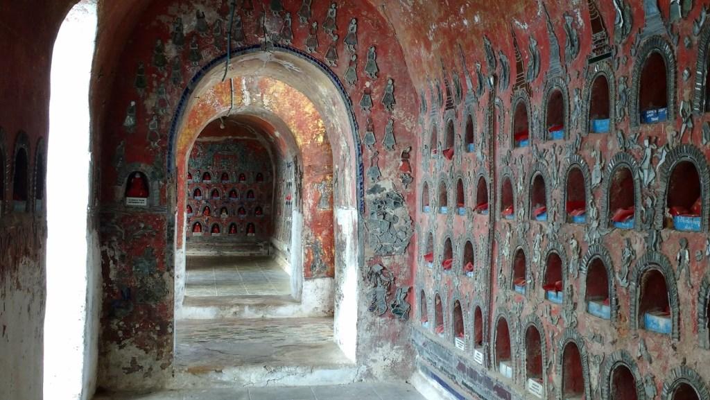 Inside an unusual teak monastery at Inle Lake