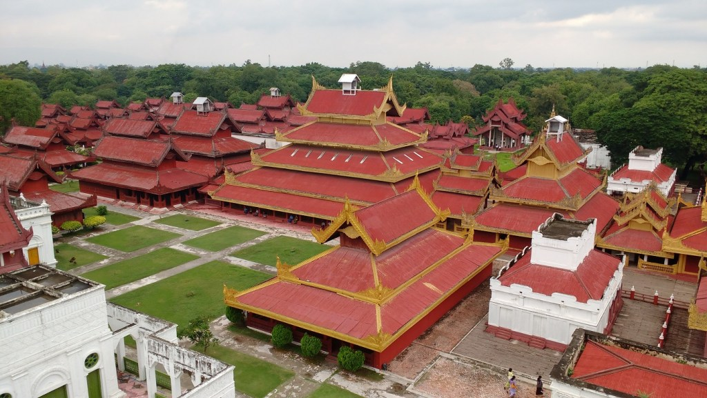 The palace at Mandalay