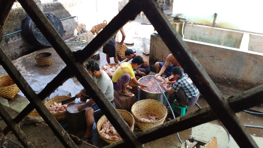 Behind the scenes in a kitchen in Myanmar