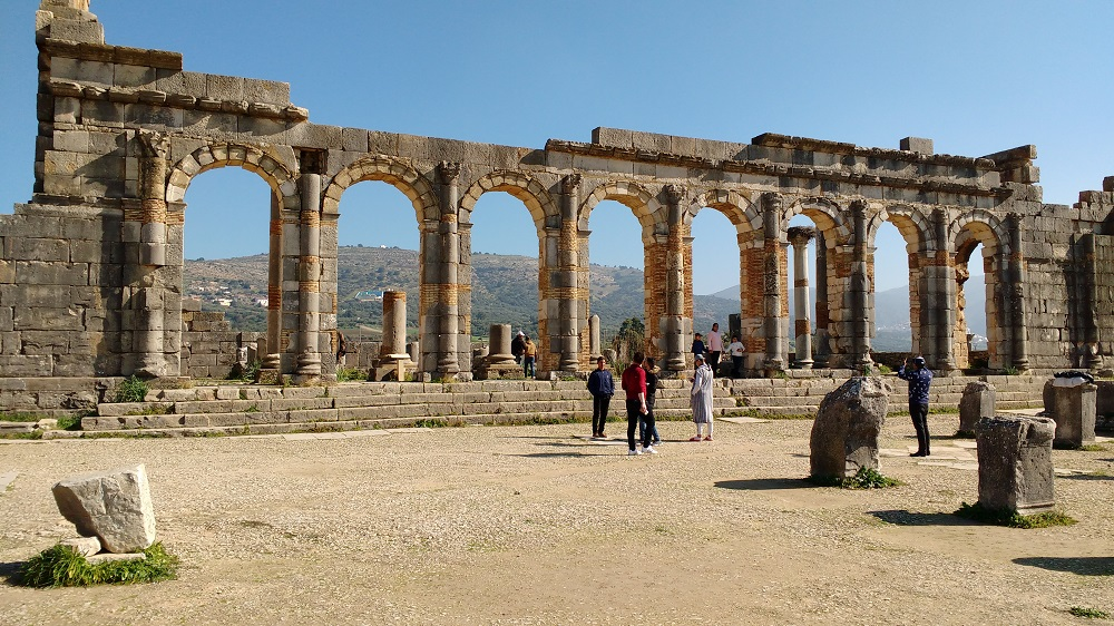 the impressive Roman ruins at Volubilis