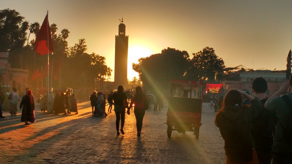 Marrakech at dusk