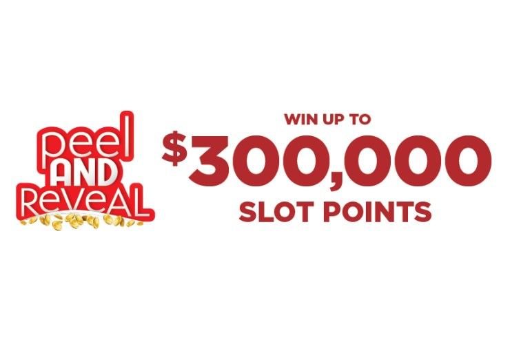 win up to $300,000 slot points peel and reveal promotion