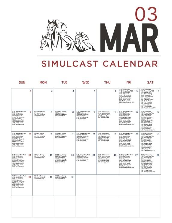 March Horse Racing Calendar