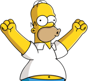 homer-excited