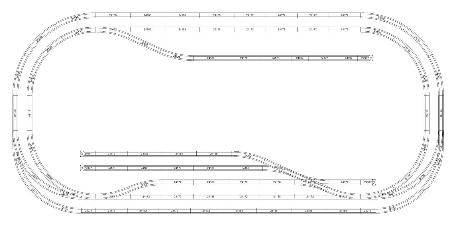 Marklin Ho C Track Plan 240x120