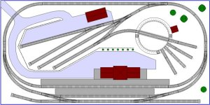 Ultra Small 4' x 2' Nscale Track Plan #2