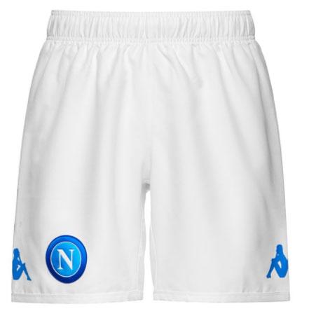 Kappa - Napoli Pantaloncini Ufficiali bianchi 2017-18