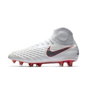 Scarpa da calcio per terreni duri Nike Magista Obra II Elite Dynamic Fit - Bianco