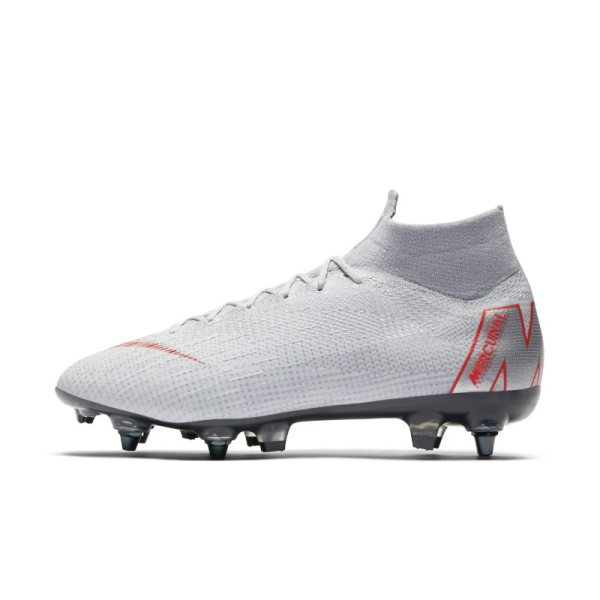 Scarpa da calcio per terreni morbidi Nike Mercurial Superfly 360 Elite SG-PRO Anti-Clog - Grigio