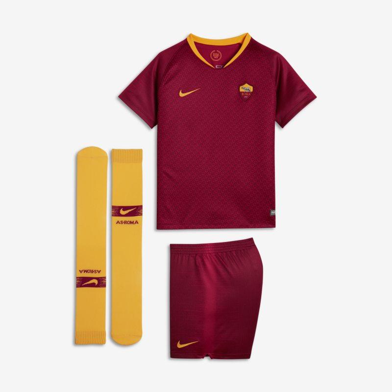 Kit da calcio 2018/19 A.S. Roma Stadium Home - Bambini - Red